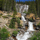 Picture - A waterfall along the Icefields Parkway.