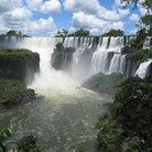 Picture - Multiple curtain-like falls of Iguacu Falls.