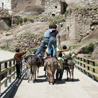 Picture - Riding donkeys in the Ihlara Valley.
