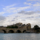 Picture - View to Ile de Cite in Paris.