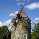 Picture - An old stone windmill on Île d'Orléans, Quebec.
