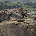 Picture - Visitors at the Ilkley Quarry.