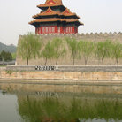 Picture - Corner guard tower in Forbidden City.