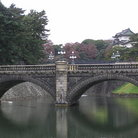 Picture - Bridge at the Imperial Palace over Nijubashi, Tokyo.