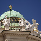 Picture - Statues on Hofburg Palace in Vienna.