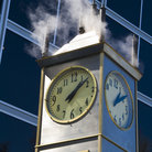 Picture - Steam powered clock near Indiana State Museum, Indianapolis.