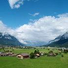 Picture - View over the countryside toward Interlaken.