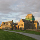 Picture - The Iona Abbey at dusk.