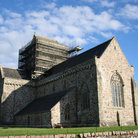Picture - The Iona Abbey in summer.