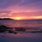 Picture - Sunset over the Isle of Iona.