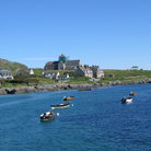Picture - View of Iona and fishing boats.