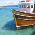 Picture - Fishing boat docked at Iona.