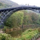 Picture - The Iron Bridge at the village of Ironbridge.