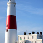 Picture - Lighthouse on Portland Island near Weymouth.