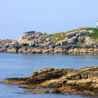 Picture - Penninis lighthouse and Pulpit rock on the Isles of Scilly.