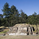 Picture - View of the Iximche ruins.