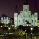 Picture - Jackson Square at Night, New Orleans.
