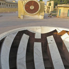 Picture - Sundial and star chart at the Royal astronomy park in Jaipur.