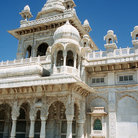 Picture - Gaitor marble temple in Jaipur.