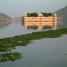 "Picture - The Water palace in Jaipur, the"" pink ""city of Rajasthan. ."