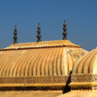 Picture - Roof of a muslim palace in Jaipur.
