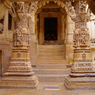 Picture - Yellow stone architecture in Jaisalmer.