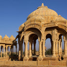 Picture - Cenotaphs at Jaisalmer.