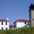 Picture - Beavertail Lighthouse, Jamestown, Rhode Island.