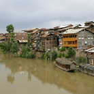 Picture - Waterfront in the town of Srinagar.