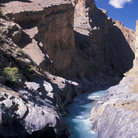 Picture - A river through the Zanskar Mountains, Ladakh.