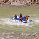 Picture - Rafting down the Ganga River.