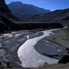 Picture - A river through the Zanskar Mountains.