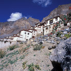 Picture - The hillside Buddhistic monastery of Lingshed, Zanskar Mountains, Ladakh.
