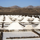 Picture - Salt piles at Janubio on Lanzarote.