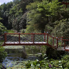 Picture - Bridge over pond in Japanese Garden, Portland.
