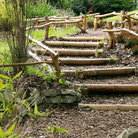Picture - Wooden stairs in the Japanese Garden.