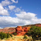 Picture - Red rock formations of the Jemez valley in New Mexico.