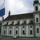 Picture - Side view of the Jesuit Church in Lucerne.