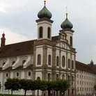 Picture - The Baroque Jesuit church in Lucerne.
