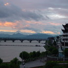 Picture - Sunset on the Lanjiang River.