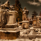 Picture - A snow covered graveyard in Jicin.