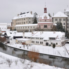 Picture - Winter view of the Castle and Chateau Jindrichuv Hradec .