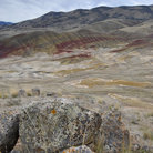 Picture - Distant view to the painted hills of John Day National Monument.
