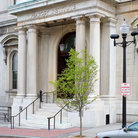 Picture - Entrance to the Peabody Institute at the John Hopkin's University in Baltimore.