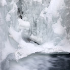 Picture - Ice on the lower falls at Johnston Canyon, Banff National Park.