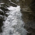 Picture - Ice in Johnston Canyon, Banff National Park.
