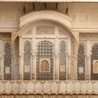 Picture - Detail of the fort at Bikaner.