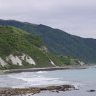 Picture - Beach along the coast near Kaikoura.