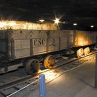 Picture - Salt train cars at the Kansas Underground Salt Museum in Hutchinson.