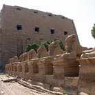Picture - The entrance to Karnak, in Luxor.